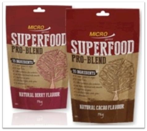 Microgenics superfoods
